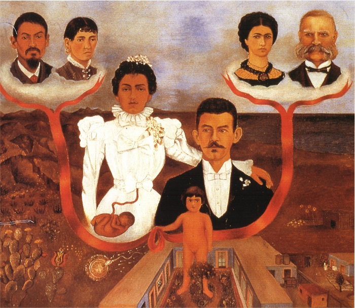 Frida Kahlo My Grandparents, My Parents, and I (Family Tree) (1936)