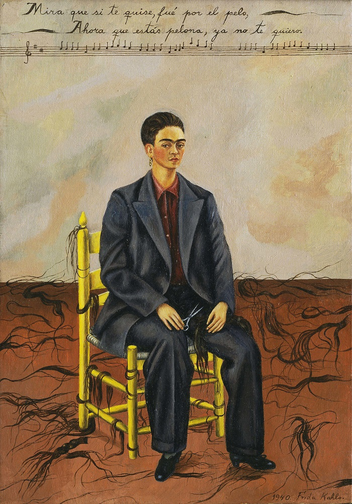 Frida Kahlo Self-Portrait with Cropped Hair (1940)