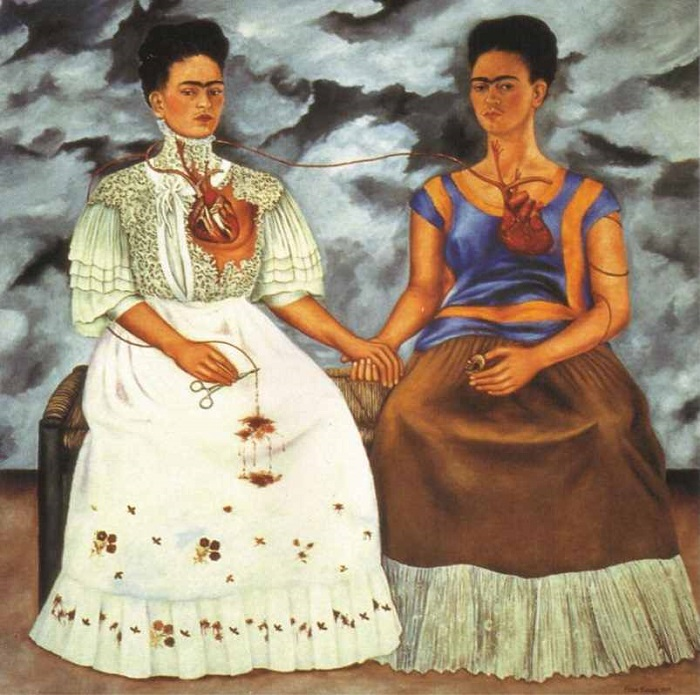 Frida Kahlo The Two Fridas (Las dos Fridas) (1939)