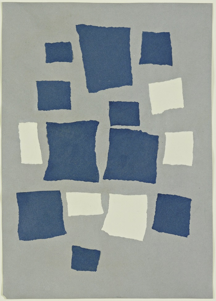 Hans Arp Collage with Squares Arranged According to the Laws of Chance (1916-17)