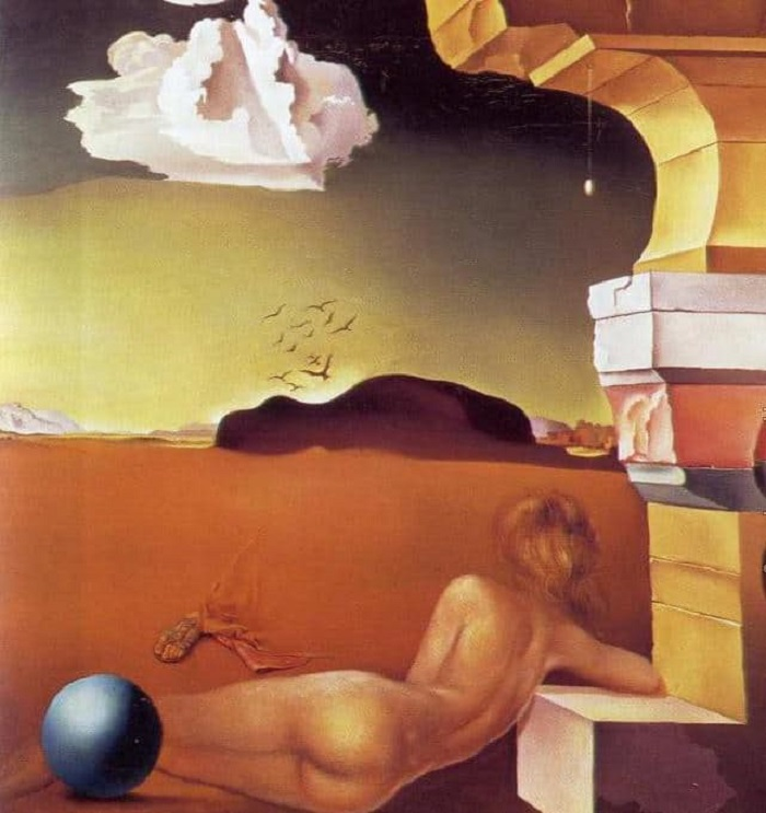Salvador Dali Nude on the Plain of Rosas (19390
