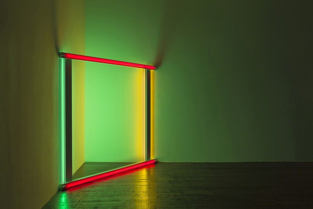 "Dan Flavin untitled (To Pat and Bob Rohm), 1969 ""Dan Flavin, 2 works"" at Judd Foundation, New York (2015)"