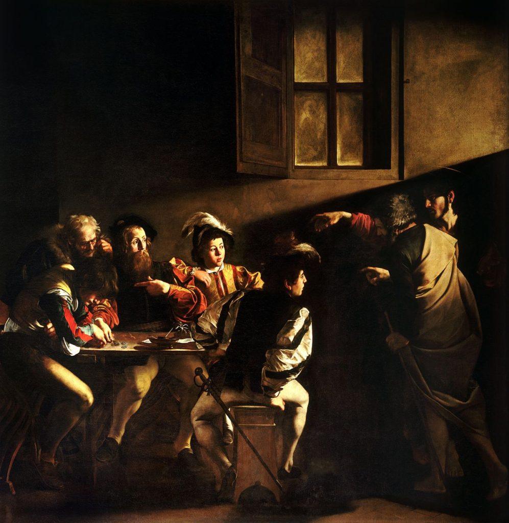 Michelangelo Merisi da Caravaggio The Calling of St Matthew, 1599-1600 San Luigi dei Francesi, Rome